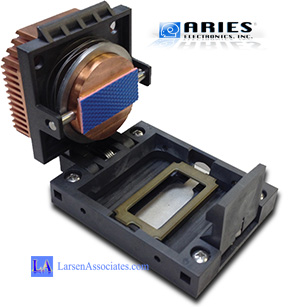 Aries Custom Heatsink IC test and burn-in socket