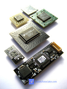 IC adapters custom IC modules plug in modules adapt ic correct-a-chip Aries Electronics Larsen Associates